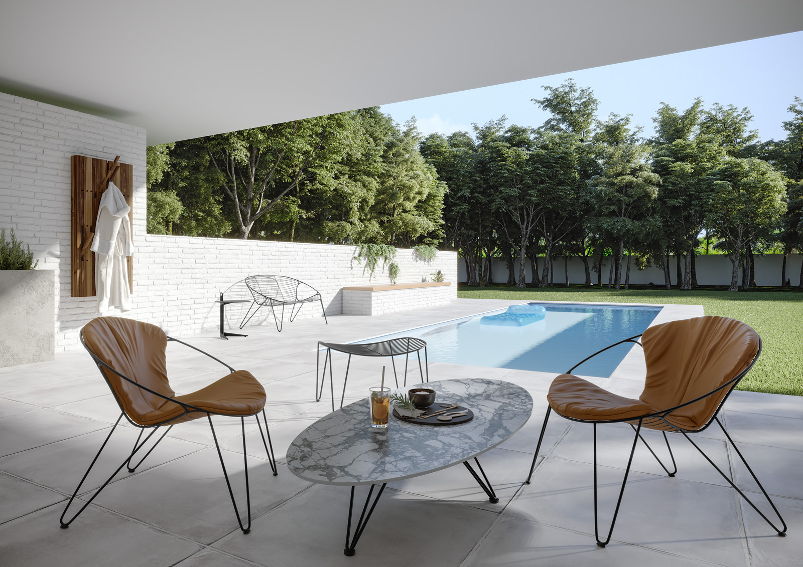 Lounge tafel en stoelen Joli Wire | indoor + outdoor